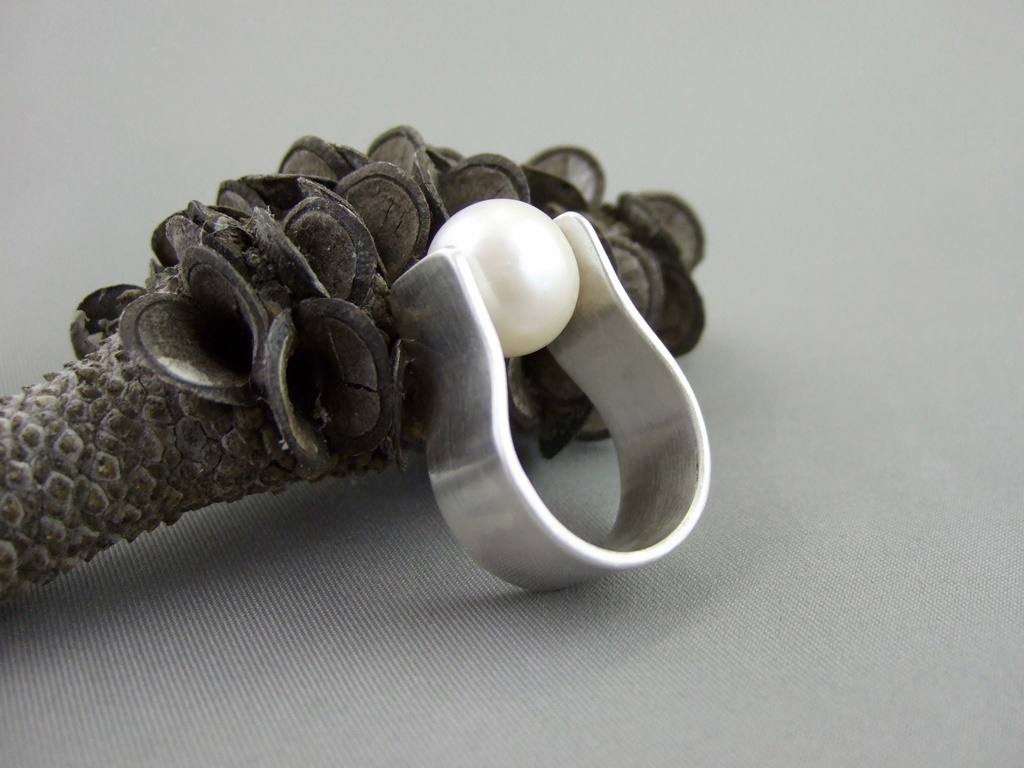 Pearl and Sterling Silver Ring for George