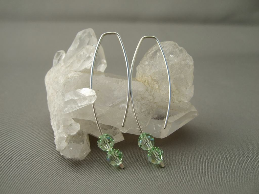Chrysolite Crystal Earrings for Kishani