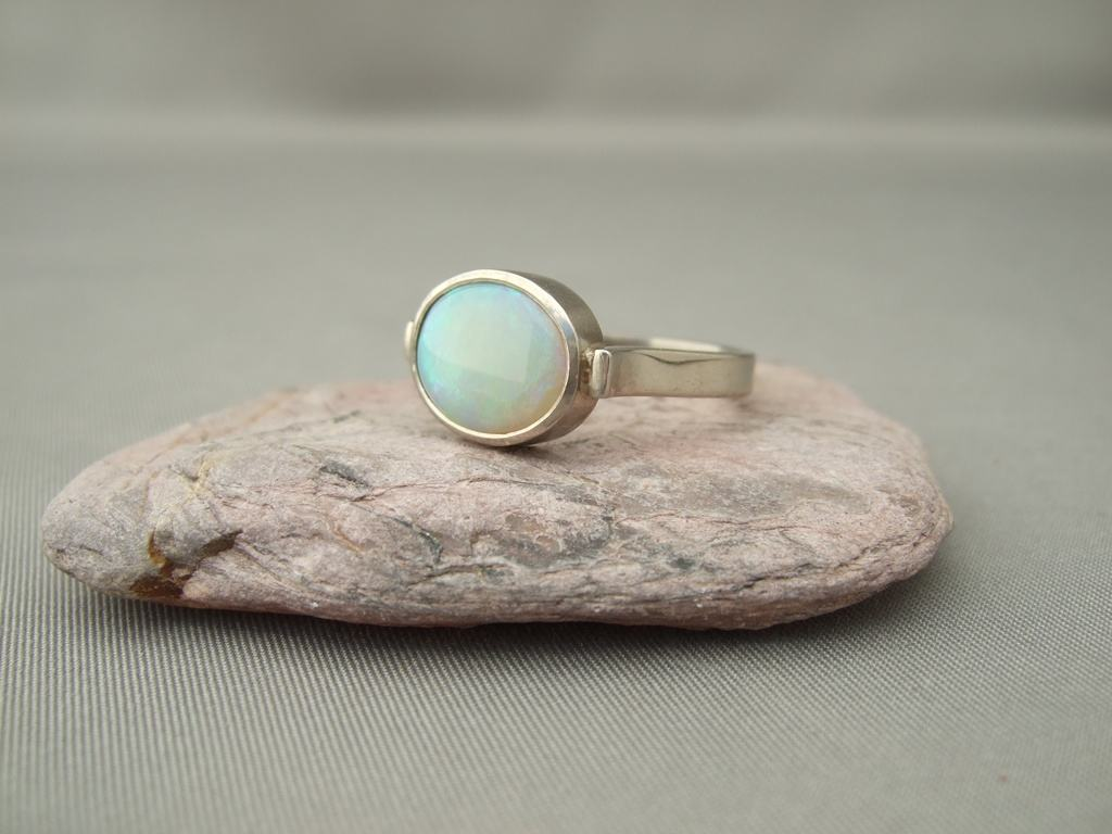 Opal and White Gold Ring
