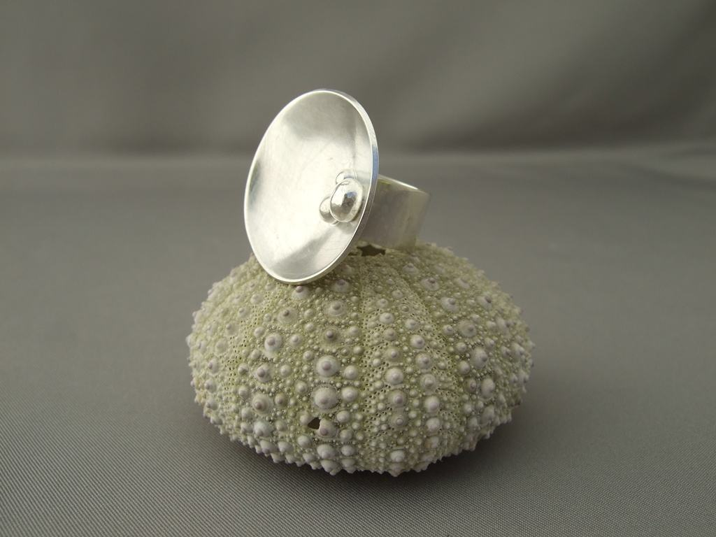 Sterling Silver Satellite Dish Ring