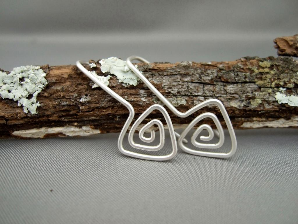 Sterling Silver Triangle Spiral Earrings Giveaway