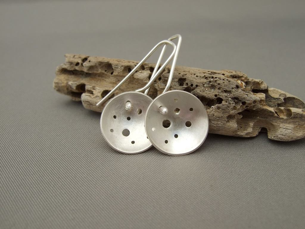 Sterling Silver Domed Pendant and Earrings Range