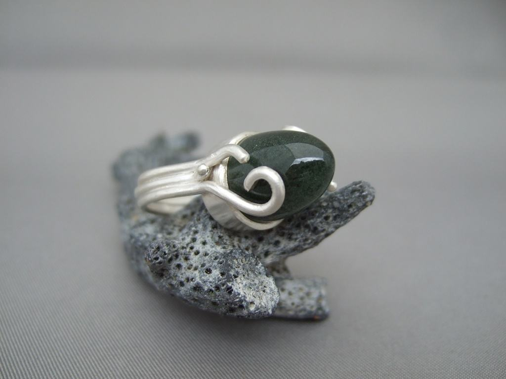 Lodolite and Sterling Silver Ring 2