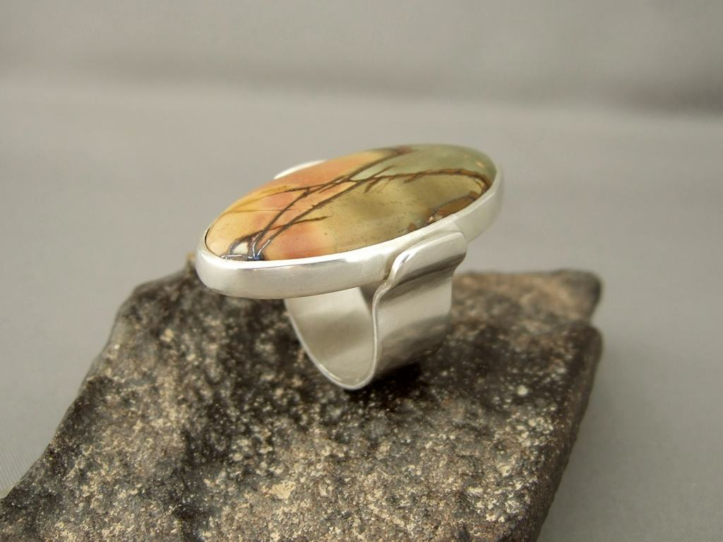 Cherry Creek Jasper and Sterling Silver Ring