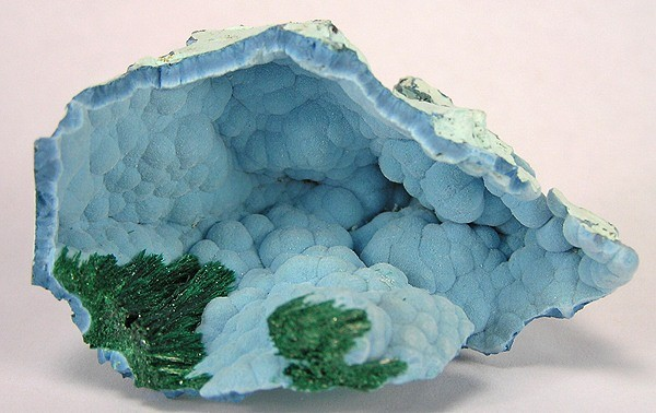 Shattuckite and Malachite (photo Rob Lavinsky)