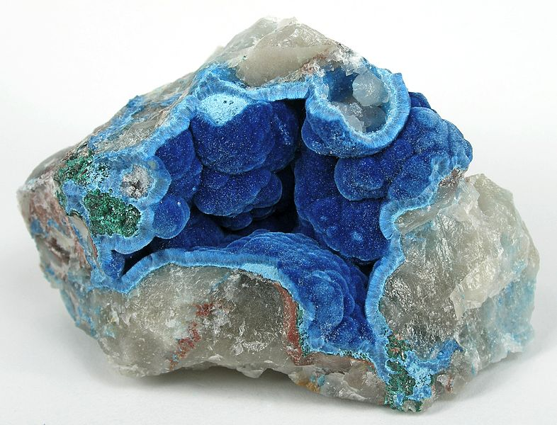 Shattuckite and Quartz