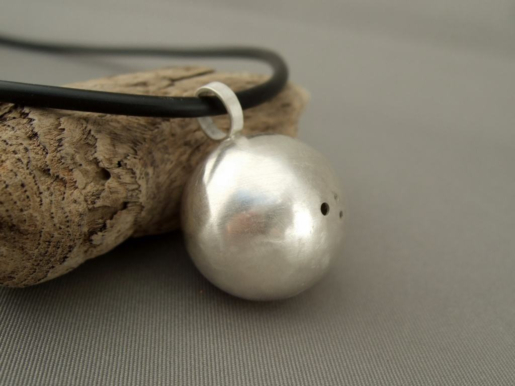 Sterling Silver Sphere Pendant