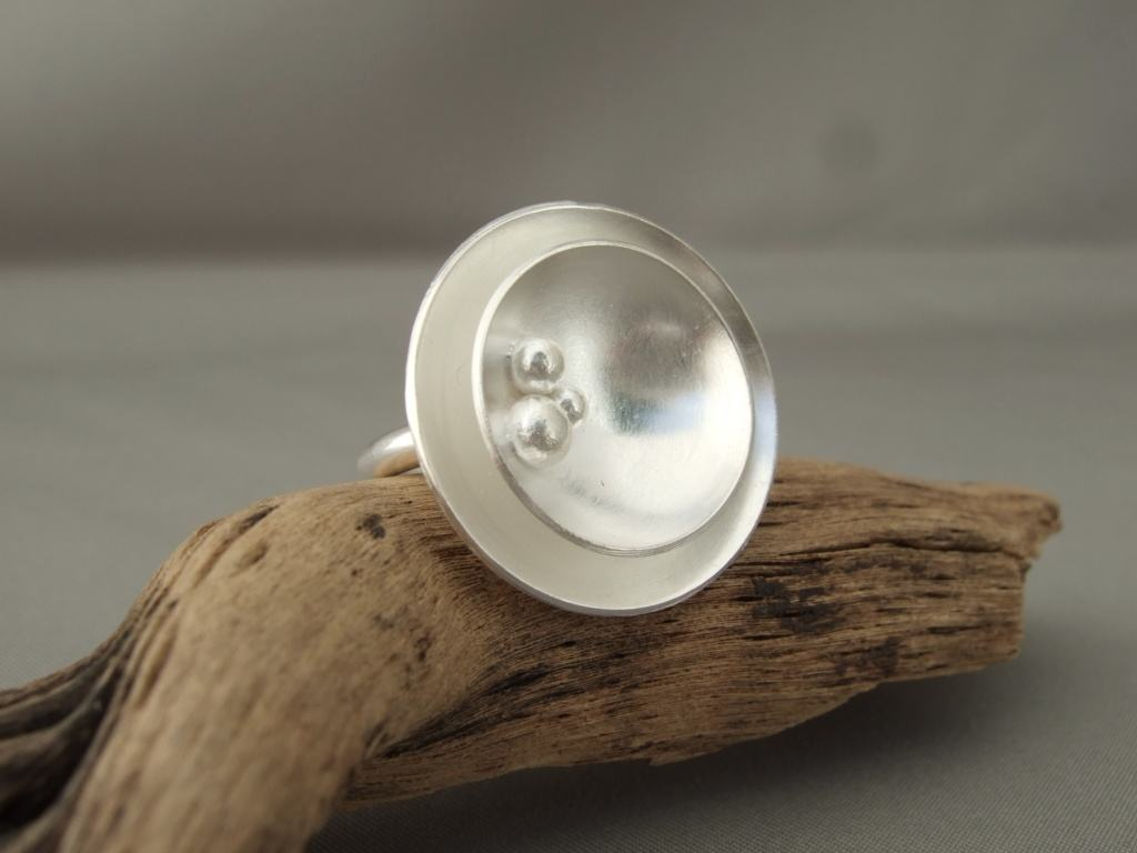 Sterling Silver Double Dome Ball Ring