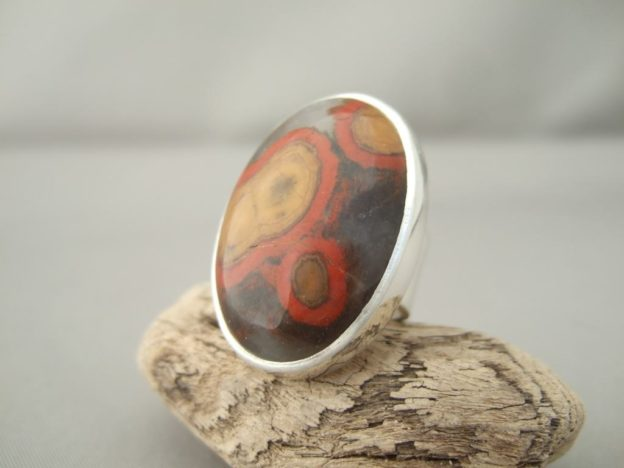 Morgan Hill Poppy Jasper and Sterling Silver Ring