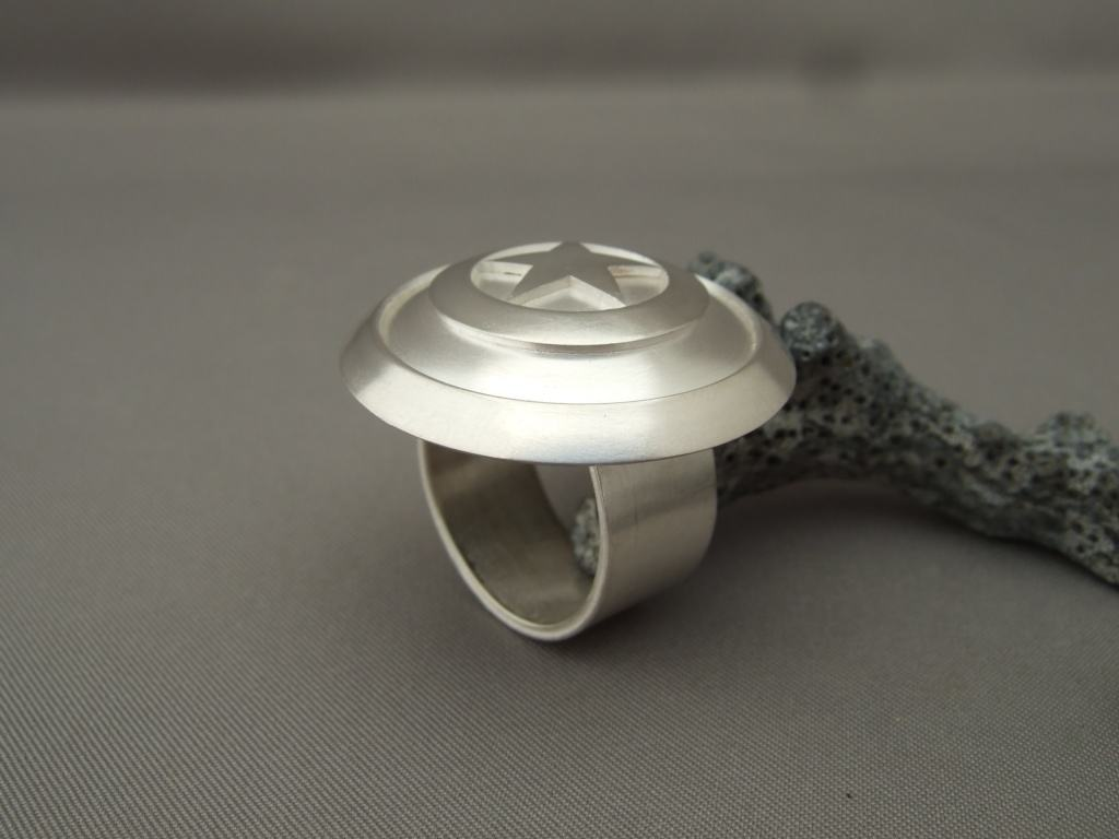 Sterling Silver Captain America Ring