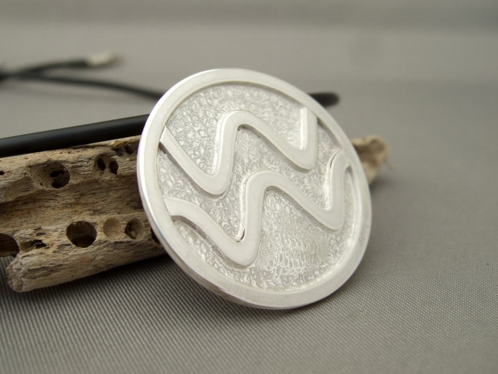 Sterling Silver Coherent Wave Pendant