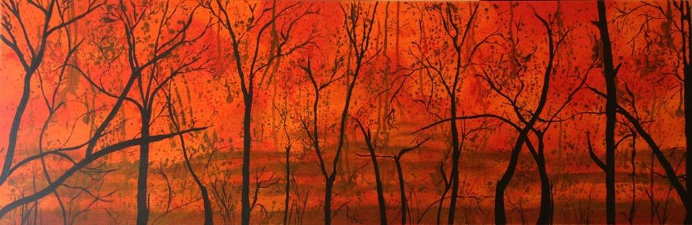 Bush Fire Silhouette (art by Wendy Sinclair)