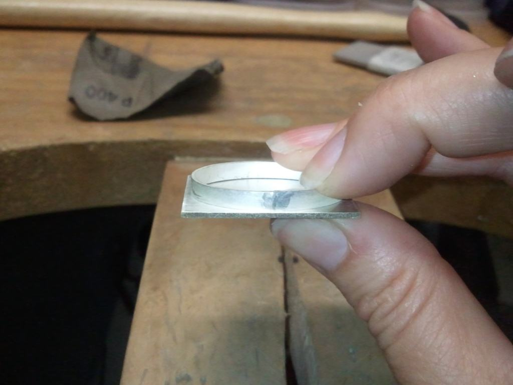 Handcrafting Sterling Silver Drusy Ring 015
