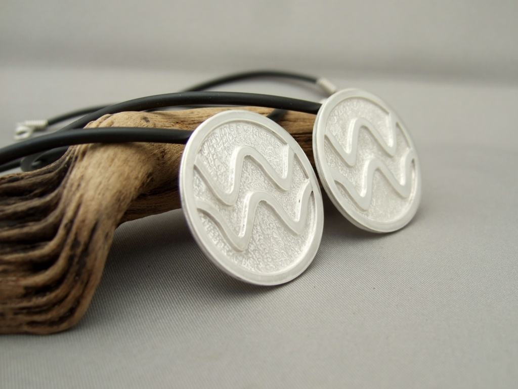 Sterling Silver Coherent Wave Pendants