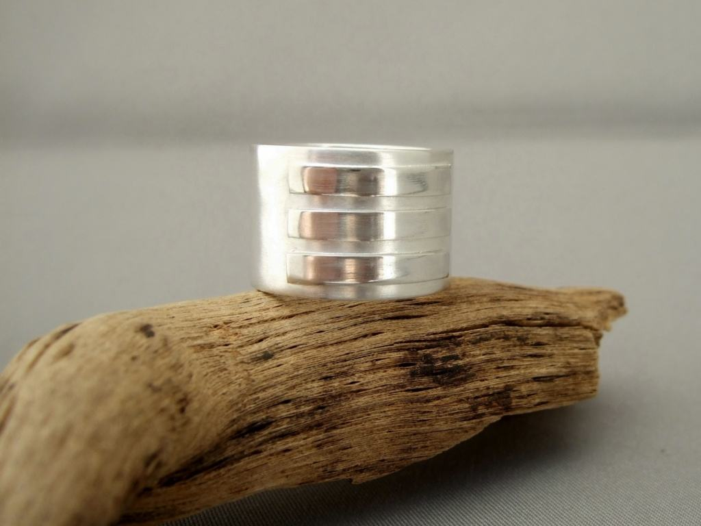 Sterling Silver Rectangle Overlay Ring