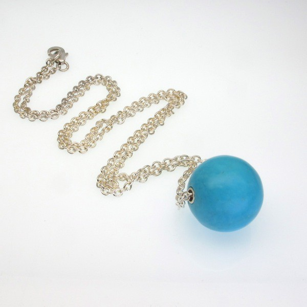 Annaig's Turquoise Ball Necklace