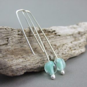 Pastel Mint Melon Earrings