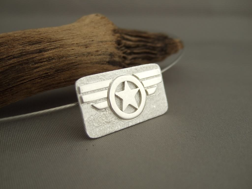 Captain America Winter Soldier Sterling Silver Pendant