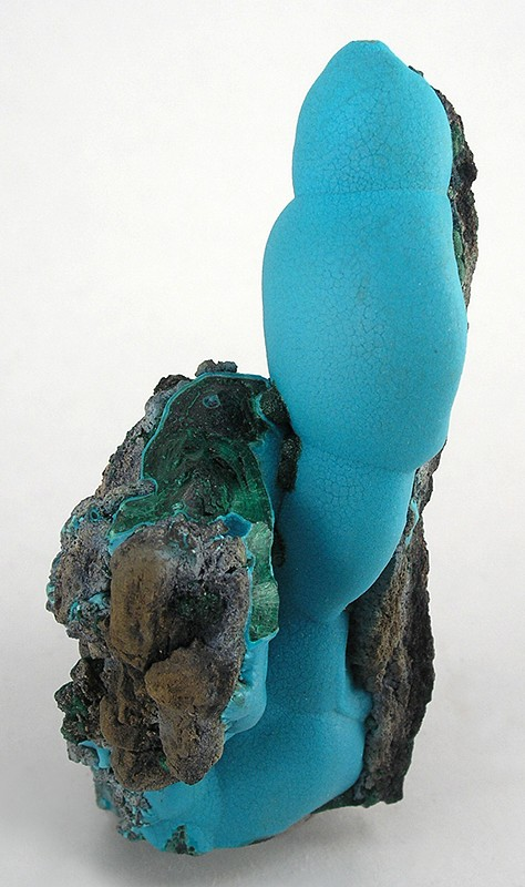 Chrysocolla Stalagtite  (photo credit MinDat)