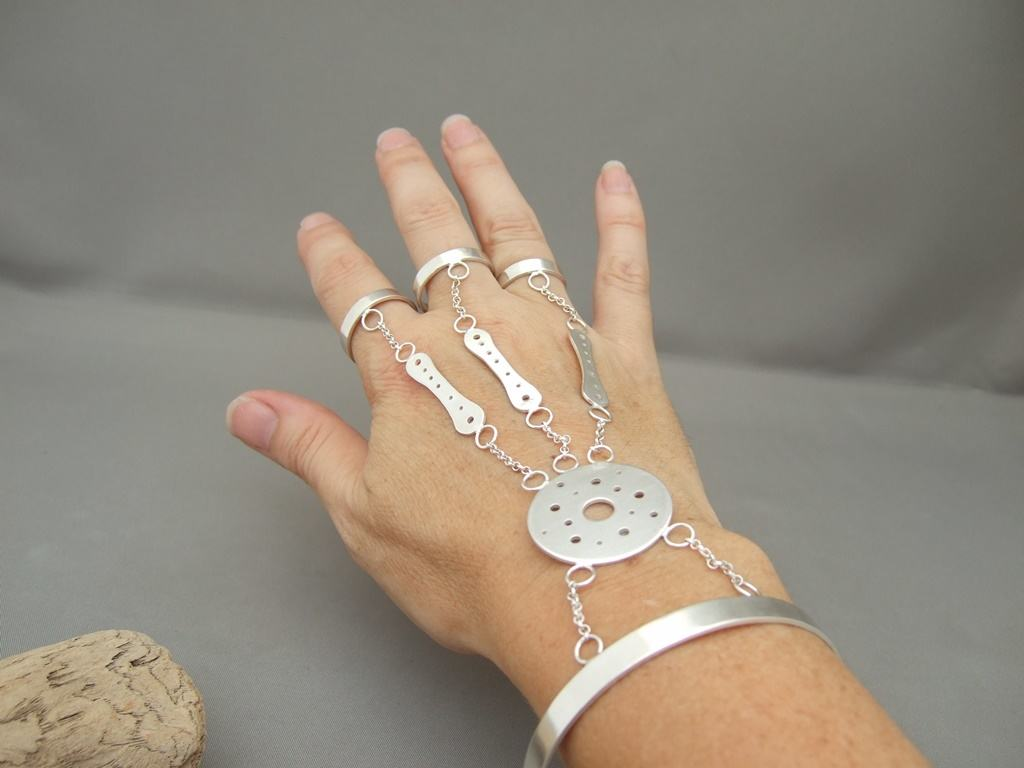 Sterling Silver Ring and Bracelet Combo