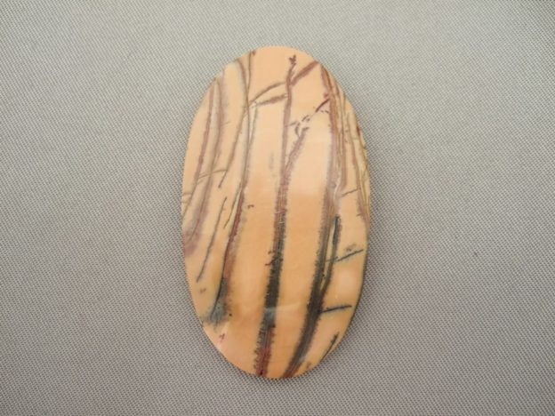 Yellow Feather Jasper Cabochon