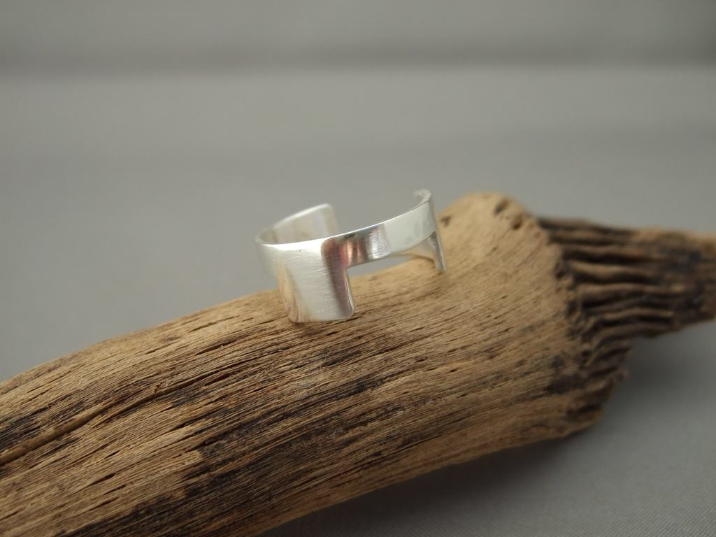 Cutaway Sterling Silver Wedding Ring