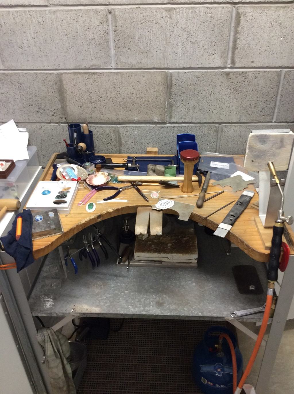 Messy Jeweller's Bench