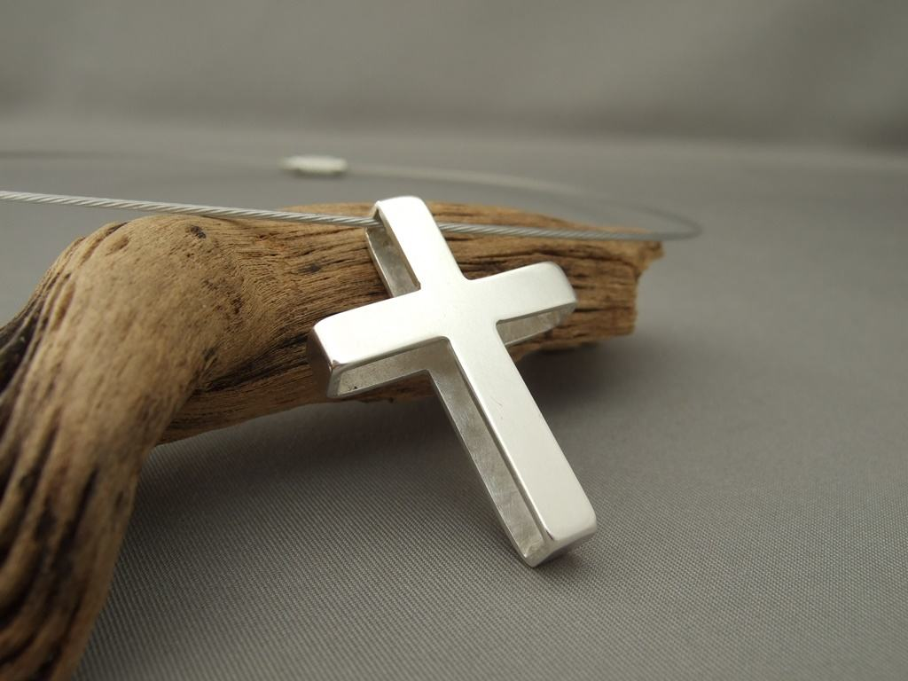 Sterling Silver Box Cross