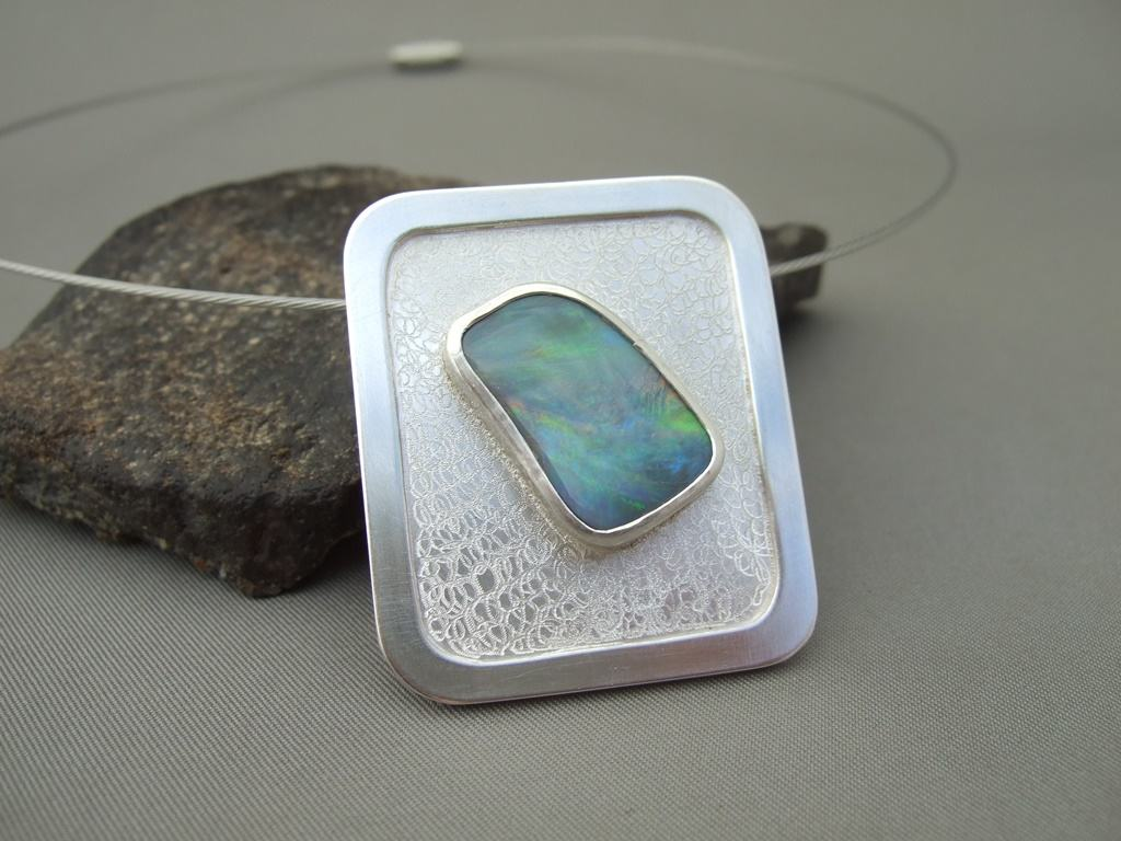 Sterling Silver and Opal Pendant