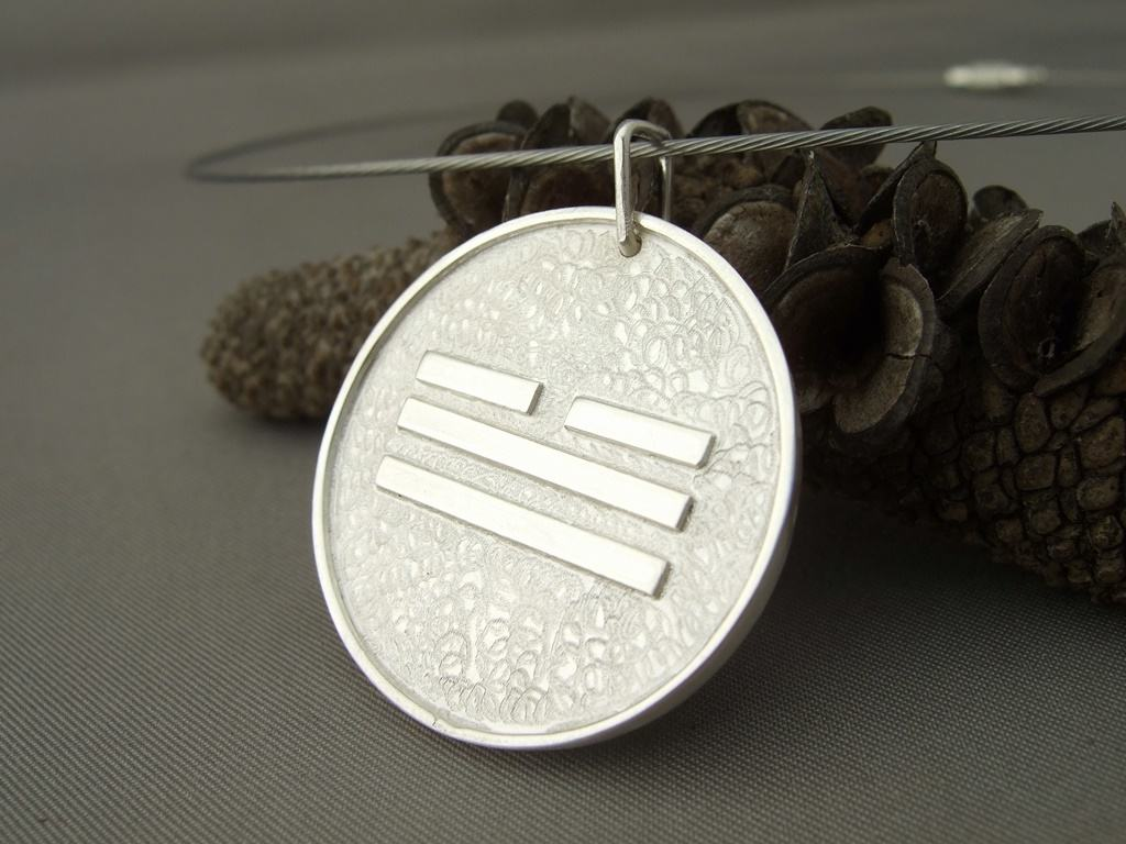 Sterling Silver Chinese Metal Symbol Pendant