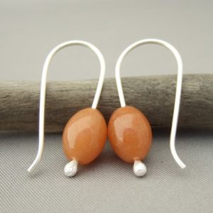 Red Aventurine and Sterling Silver Earrings