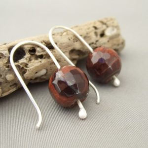 Tigereye and Sterling Silver Earrings