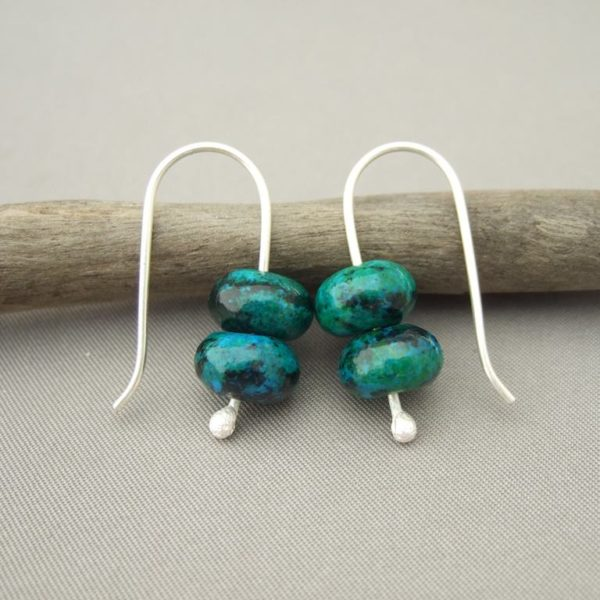 Azurite and Sterling Silver Earrings