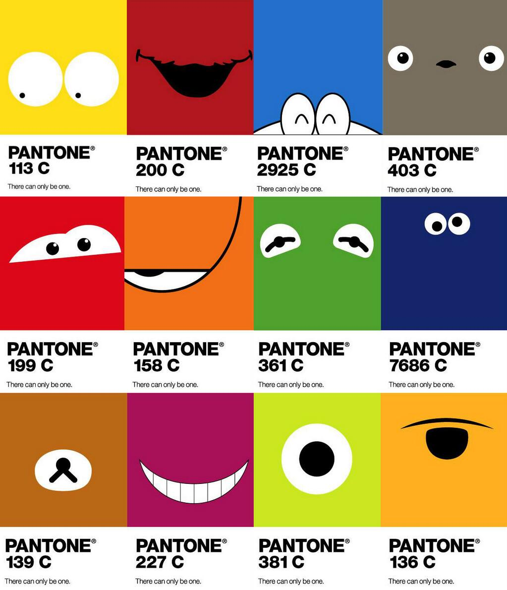 Pantone Cartoon Characters