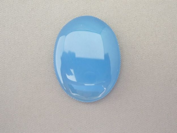 Large Blue Chalcedony Cabochon