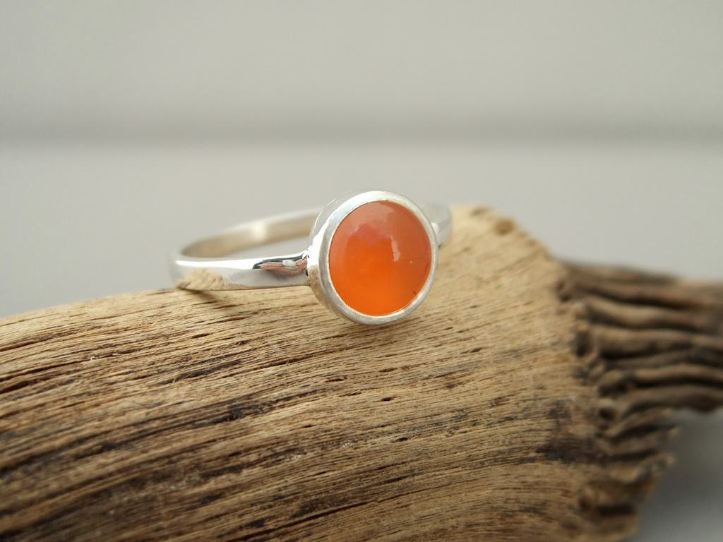 Carnelian and Sterling Silver Ring