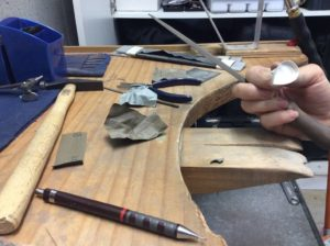 Silversmithing - creating a bezel set ring