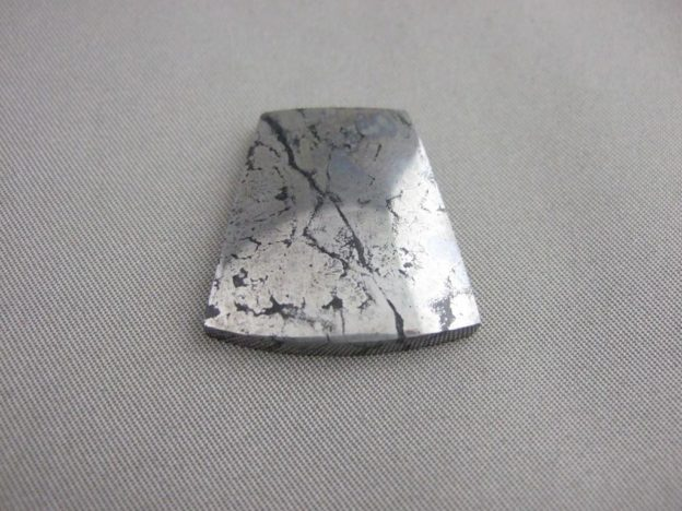 Native Silver in Cobaltite Freeform Cabochon