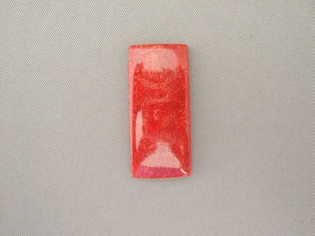 Red Coral Rectangle Cabochon
