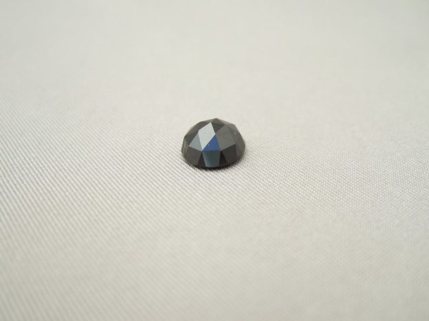 Melanite Garnet Round Rose Cut 8mm Cabochon