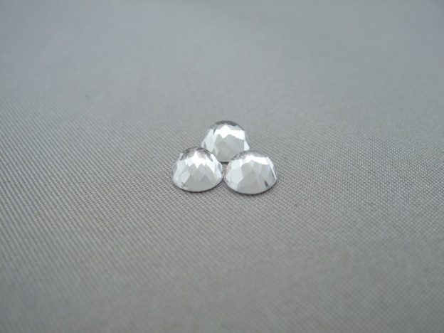 White Topaz Round Rose Cut 6mm Cabochons