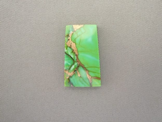 Mohave Green Turquoise Cabochon With Bronze