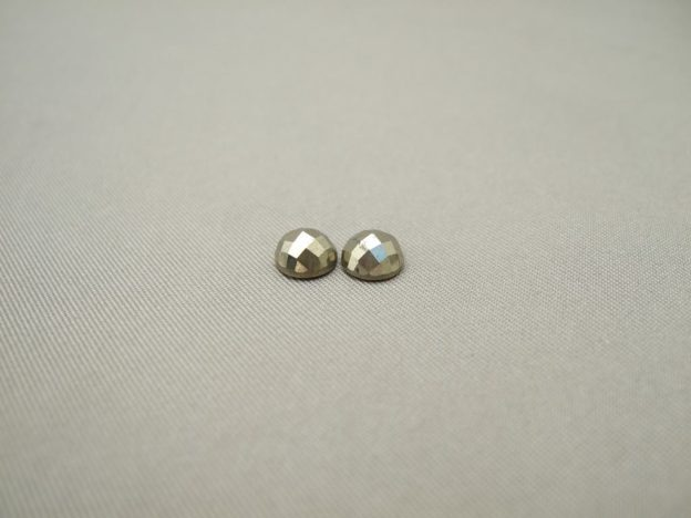 Pyrite Cabochons (6mm Round Checkerboard)