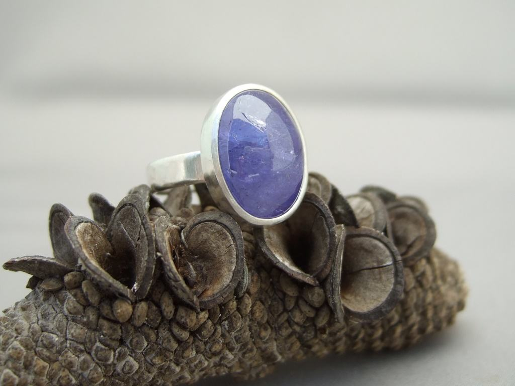 Tanzanite and Sterling Silver Ring