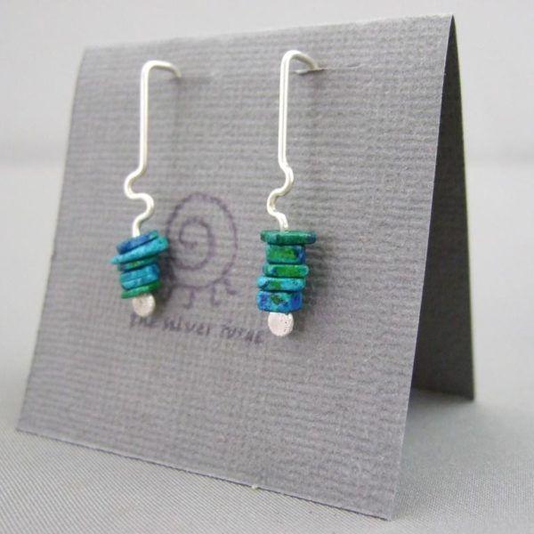 Poseidon Blue Greek Ceramic Earrings