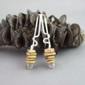 Midas Gold Greek Ceramic and Sterling Silver Earrings