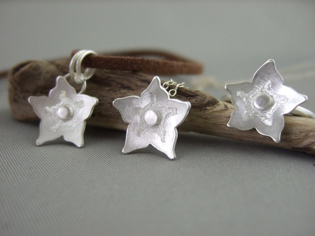Forget-me-not Sterling Silver Pendants