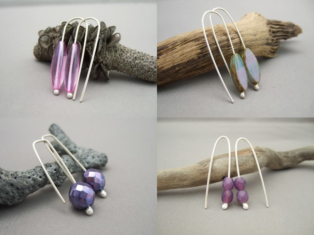 Czech Earrings -  Purple