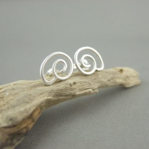 Sterling Silver Spiral Stud Earrings