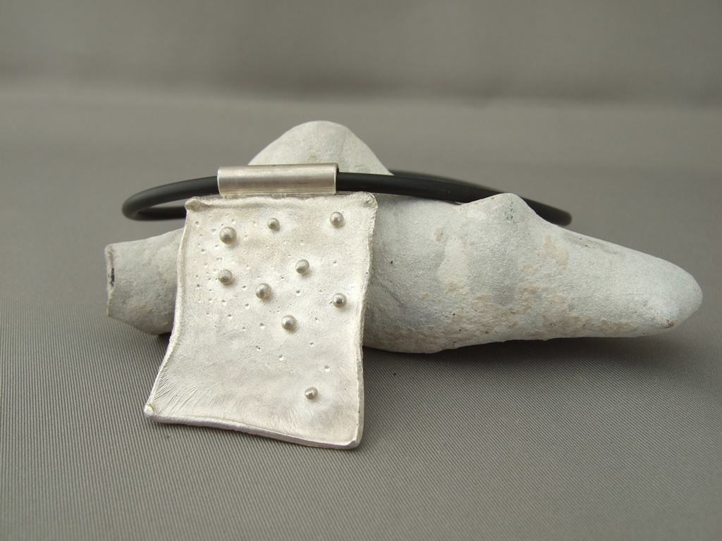 Reticulated Sterling Silver Pendant